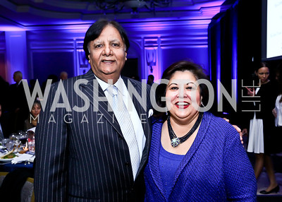 Ray and Shaista Mahmood. Photo by Tony Powell. 2013 NDI Democracy Dinner. Ritz Carlton. December 10, 2013