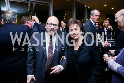 Craig's List founder Craig Newman, Rep. Nita Lowey. Photo by Tony Powell. 2013 NDI Democracy Dinner. Ritz Carlton. December 10, 2013