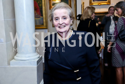 NDI Board Chair Madeleine Albright. Photo by Tony Powell. 2013 NDI Democracy Dinner. Ritz Carlton. December 10, 2013
