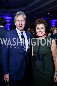 Canadian Amb. Gary Doer, Maureen Orth. Photo by Tony Powell. 2013 NDI Democracy Dinner. Ritz Carlton. December 10, 2013