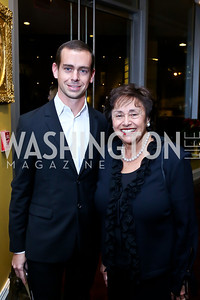 Twitter Co-founder Jack Dorsey, Rep. Nita Lowey. Photo by Tony Powell. 2013 NDI Democracy Dinner. Ritz Carlton. December 10, 2013