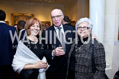 Maxine Isaacs, Tom Donahue, Rachelle Horowitz. Photo by Tony Powell. 2013 NDI Democracy Dinner. Ritz Carlton. December 10, 2013