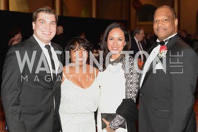 David Tjaden, Kimberly Anderson, Rocio Inclan, Todd Crenshaw,  NEA Foundation Salute to Excellence in Education Gala, National Building Museum, Friday February 8, 2013, Photo by Ben Droz,