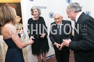 Cathleen Pearl, Nancy Kissinger, Henry Kissinger, Al Zimmerman. National Defense University Foundation Awards. Photo by Alfredo Flores. Ritz-Carlton Hotel. March 13, 2013.