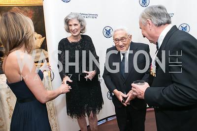 Cathleen Pearl, Nancy Kissinger, Henry Kissinger, Al Zimmerman. National Defense University Foundation Awards. Photo by Alfredo Flores. Ritz-Carlton Hotel. March 13, 2013.