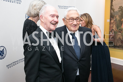 Lt. Gen. Brent Scowcroft, Henry Kissinger. National Defense University Foundation Awards. Photo by Alfredo Flores. Ritz-Carlton Hotel. March 13, 2013.