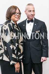 Lillie Cannon, Mike Cannon. National Defense University Foundation Awards. Photo by Alfredo Flores. Ritz-Carlton Hotel. March 13, 2013.