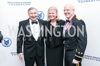 Al Zimmerman, Ginni Rommetty, Gregg Martin. National Defense University Foundation Awards. Photo by Alfredo Flores. Ritz-Carlton Hotel. March 13, 2013.