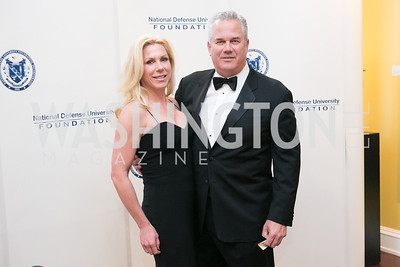 Kelly Schorer, Steve Schorer. National Defense University Foundation Awards. Photo by Alfredo Flores. Ritz-Carlton Hotel. March 13, 2013.