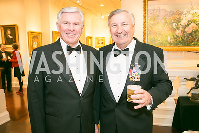 Harry Raduege, Al Zimmerman. National Defense University Foundation Awards. Photo by Alfredo Flores. Ritz-Carlton Hotel