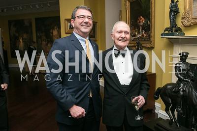 Ashton Carter, Brent Scowcroft. National Defense University Foundation Awards. Photo by Alfredo Flores. Ritz-Carlton Hotel. March 13, 2013.