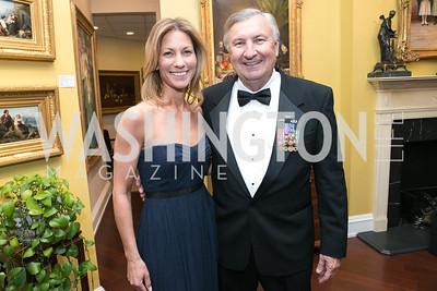 Cathleen Pearl, Al Zimmerman. National Defense University Foundation Awards. Photo by Alfredo Flores. Ritz-Carlton Hotel. March 13, 2013.
