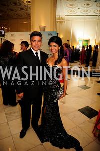 Esai Morales,Miss D.C. Bindhu Parmarthi,September 30,2013,National Foundation for  The Arts' Noche de Gala,Kyle Samperton