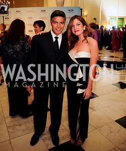 Esai Morales,Katelyn Gimbel,September 30,2013,National Foundation for  The Arts' Noche de Gala,Kyle Samperton
