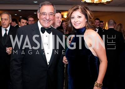 Secretary Leon Panetta and master of ceremonies Maria Bartiromo