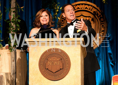 Maria Bartiromo and Joe Piscopo entertain the crowd