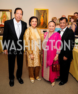 Sharad Tak,Mahinder Tak, Scuti Kaveeshwar,Ashok Kaveeshwar.April 26,2013,National  Museum of Women in the Arts  26th Annual Spring Gala,Kyle Samperton