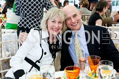 Lynda Webster, William Nitze. Photo by Tony Powell. NSLM 2013 Benefit Polo Match and Luncheon. Llangollen Estate. September 15, 2013
