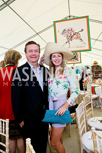 Martin Gammon and Amy Maniatis. Photo by Tony Powell. NSLM 2013 Benefit Polo Match and Luncheon. Llangollen Estate. September 15, 2013