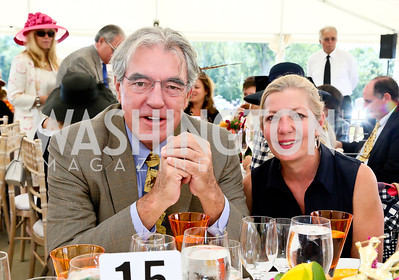 Philip Bermingham, Sonya Bernhardt. Photo by Tony Powell. NSLM 2013 Benefit Polo Match and Luncheon. Llangollen Estate. September 15, 2013