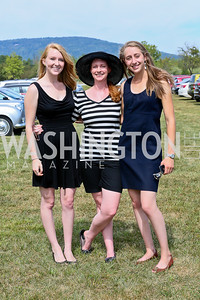 Jaclyn Merica, Stacey McFadden, Anna Rossi. Photo by Tony Powell. NSLM 2013 Benefit Polo Match and Luncheon. Llangollen Estate. September 15, 2013
