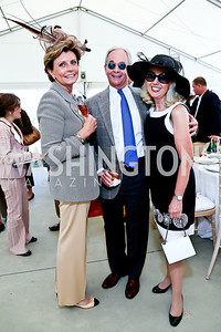 Juleanna and Richard May, Penelope Rogerson. Photo by Tony Powell. NSLM 2013 Benefit Polo Match and Luncheon. Llangollen Estate. September 15, 2013