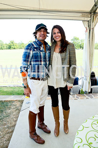 David Tafuri, Molly Weaver. Photo by Tony Powell. NSLM 2013 Benefit Polo Match and Luncheon. Llangollen Estate. September 15, 2013