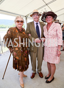 Jacqueline Badger Mars, Douglas and Queenie Kemmerer. Photo by Tony Powell. NSLM 2013 Benefit Polo Match and Luncheon. Llangollen Estate. September 15, 2013