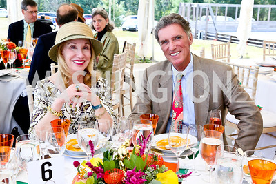 Elizabeth Locke, Bill Walton. Photo by Tony Powell. NSLM 2013 Benefit Polo Match and Luncheon. Llangollen Estate. September 15, 2013