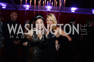 Sumiko Mori and Daniella Foster. S&R Foundation's Night Nouveau at the Evermay Estate, November 2, 2013 Photos by Neshan H. Naltchayan