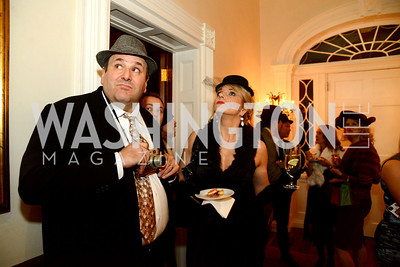 Gwydion Suilebhan and Karin Rosnizeck. S&R Foundation's Night Nouveau at the Evermay Estate, November 2, 2013 Photos by Neshan H. Naltchayan