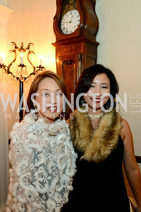 Dr. Sachiko Kuno and Kei Tolliver. S&R Foundation's Night Nouveau at the Evermay Estate, November 2, 2013 Photos by Neshan H. Naltchayan