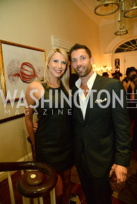 Lauren Jarboe and Justin DeVinney. S&R Foundation's Night Nouveau at the Evermay Estate, November 2, 2013 Photos by Neshan H. Naltchayan