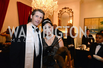 Michael Niksa and Sumiko Mori. S&R Foundation's Night Nouveau at the Evermay Estate, November 2, 2013 Photos by Neshan H. Naltchayan