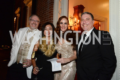 Sean and Kei Tolliver, Kate Goodall and David Gorodetski. S&R Foundation's Night Nouveau at the Evermay Estate, November 2, 2013 Photos by Neshan H. Naltchayan