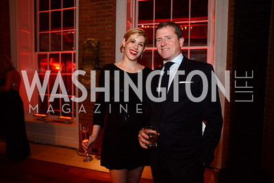 Alexandra and Gavin Coleman. S&R Foundation's Night Nouveau at the Evermay Estate, November 2, 2013 Photos by Neshan H. Naltchayan