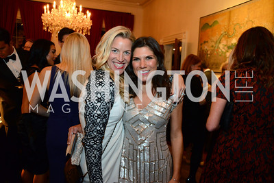 Kim Hayman and Allison Cricks. S&R Foundation's Night Nouveau at the Evermay Estate, November 2, 2013 Photos by Neshan H. Naltchayan