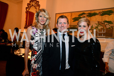 Paige Speyer, Gavin Coleman and Alexandra Coleman. S&R Foundation's Night Nouveau at the Evermay Estate, November 2, 2013 Photos by Neshan H. Naltchayan
