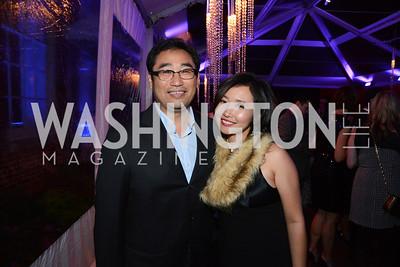 Daisuke Utagawa and Kei Tolliver. S&R Foundation's Night Nouveau at the Evermay Estate, November 2, 2013 Photos by Neshan H. Naltchayan