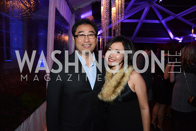 Daisuke Utagawa and Kei Tolliver. S&R Foundation's Night Nouveau at the Evermay Estate, November 2, 2013 Photos by Neshan H. Naltchayan