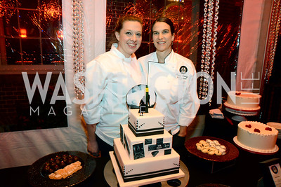 Katy Kinch and Lizzy Evelyn, Pastry chefs from Room 11 S&R Foundation's Night Nouveau at the Evermay Estate, November 2, 2013 Photos by Neshan H. Naltchayan