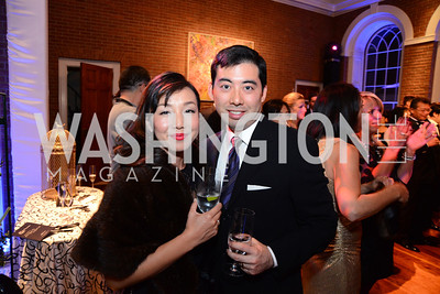 Masae and Mark Uyeda. S&R Foundation's Night Nouveau at the Evermay Estate, November 2, 2013 Photos by Neshan H. Naltchayan