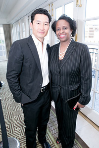 Daniel Dae Kim, Reta Jo Lewis. Photo by Alfredo Flores. OUR VOICES Celebrating Diversity in Media‏. Hay-Adams Hotel. April 26, 2013.