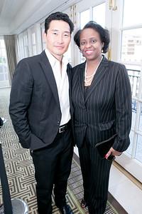 Daniel Dae Kim, Reta Jo Lewis. Photo by Alfredo Flores. OUR VOICES Celebrating Diversity in Media. Hay-Adams Hotel. April 26, 2013.