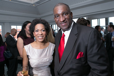 Johnita Due, Bryan Monroe. Photo by Alfredo Flores. OUR VOICES Celebrating Diversity in Media‏. Hay-Adams Hotel. April 26, 2013.