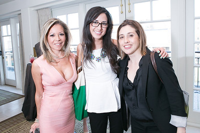 Eve O'Toole, Casey Hernandez, Leslie Pollner. Photo by Alfredo Flores. OUR VOICES Celebrating Diversity in Media‏. Hay-Adams Hotel. April 26, 2013.
