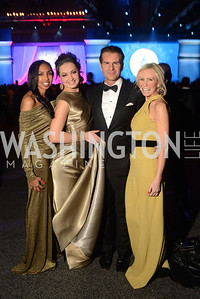 Gail Holman, Frances Holuba, Vincent De Paul, Carole Vargas,  The Official Presidential Inaugural Ball. Walter E. Convention Center. Photo by Ben Droz.