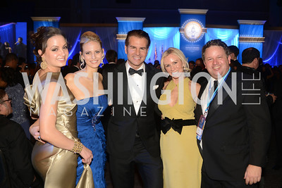 Frances Holuba, Carla Babb, Vincent De Paul, Carole Vargas, John Arundel, The Official Presidential Inaugural Ball. Walter E. Convention Center. Photo by Ben Droz.