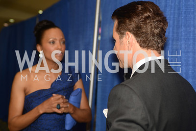 Aisha Tyler, Vincent De Paul, The Official Presidential Inaugural Ball. Walter E. Convention Center. Photo by Ben Droz.