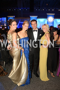 Frances Holuba, Carla Babb, Vincent De Paul, Carole Vargas, The Official Presidential Inaugural Ball. Walter E. Convention Center. Photo by Ben Droz.
